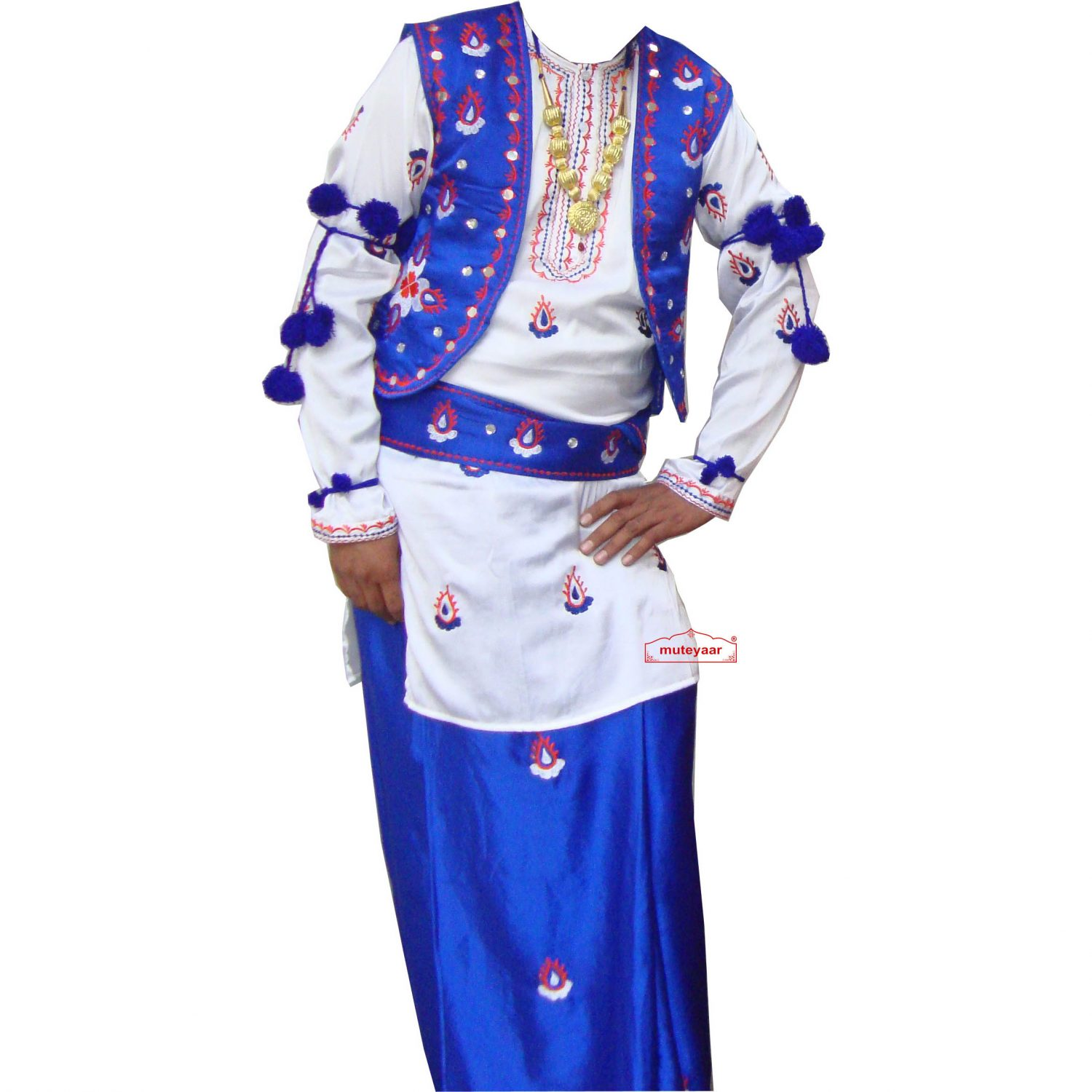 embroidered Bhangra dance Costume / outfit dress- ready to wear 1