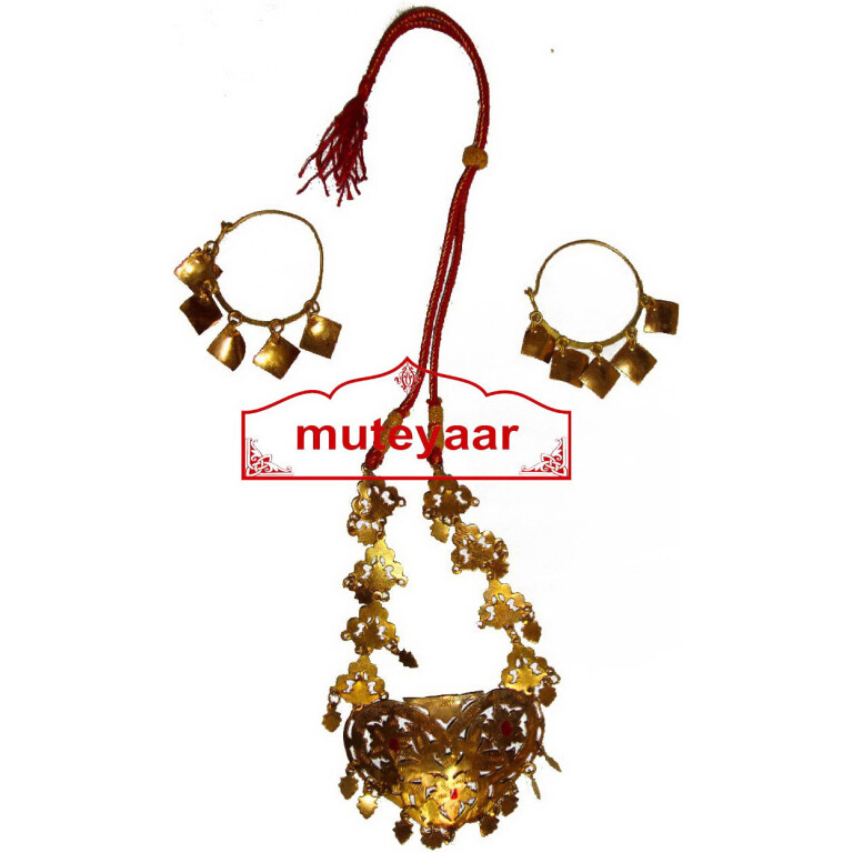 Ranihaar Bhangra Giddha Jewelery set of Neclace + Earrrings