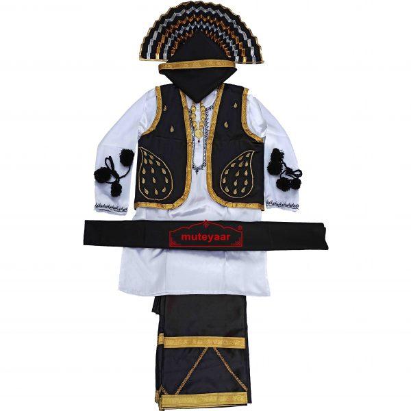Black n White Bhangra Costume BLWBL
