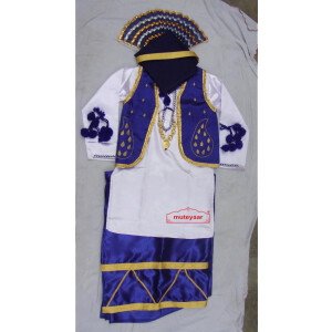 Blue White Bhangra dance Costume / outfit dress