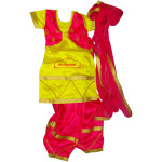 Magenta yellow Girl's Bhangra Costume outfit dance dress
