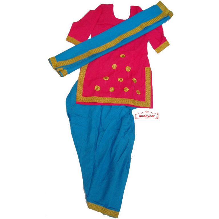 Blue Magenta custom made GIDDHA Costume outfit suit dress