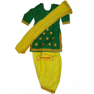 Yellow green custom made GIDDHA  Costume outfit suit  dress