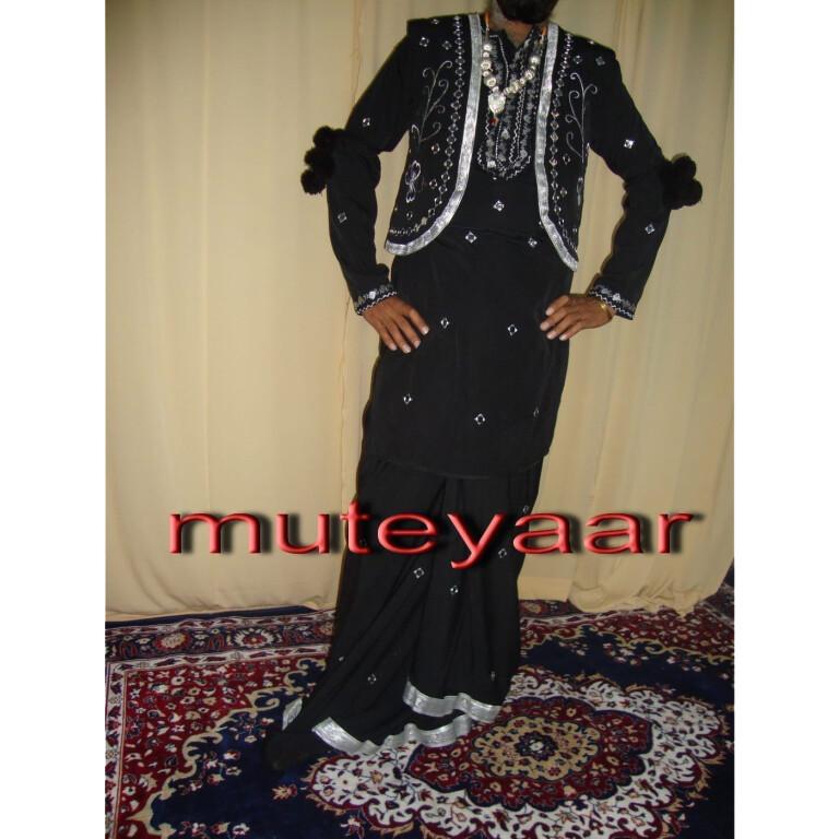Black Mirrors work Bhangra dance dress outfit costume