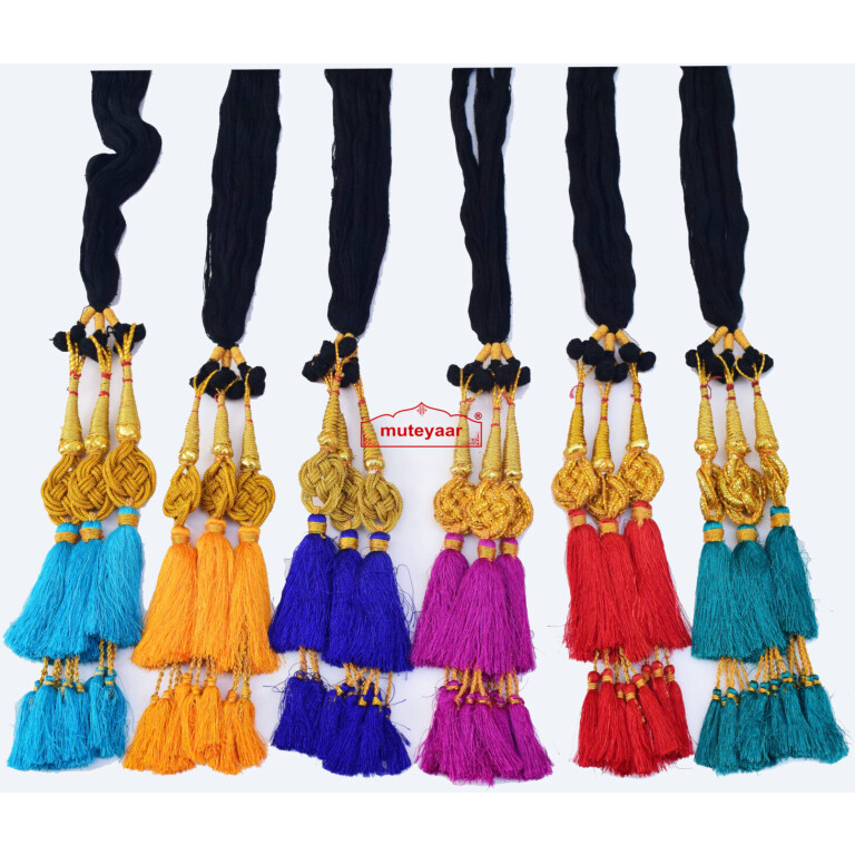 Lot of 6 paranda Jalebi ethnic Colorful parandi to match ur suit
