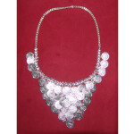 Handicraft Bhangra jewelery Silver colour Neclace + Earrrings
