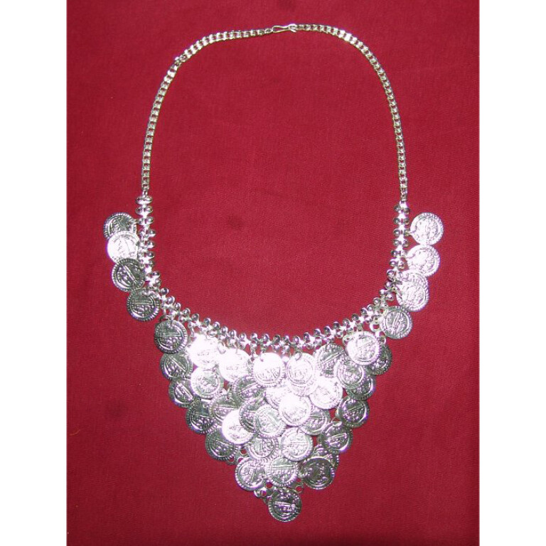 Handicraft Bhangra jewelery Silver colour Neclace + Earrrings
