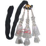 Silver Paranda Traditional Punjabi Parandi Tassles Hair Braid