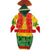 3D colorful Bhangra dance Costume / outfit dress- ready to wear