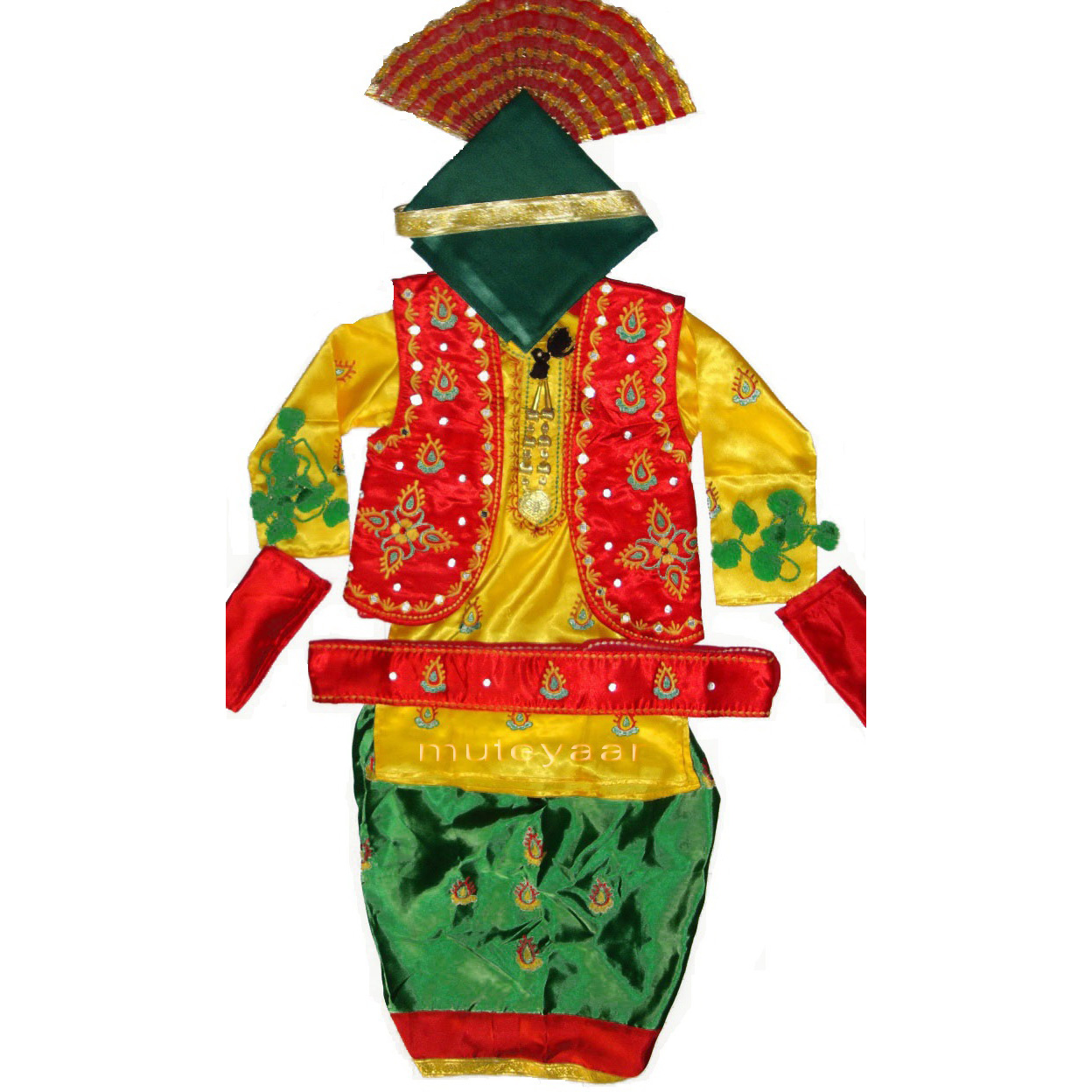 3D colorful Bhangra dance Costume / outfit dress- ready to wear 1