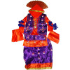 Purple Orange Bhangra dance Costume outfit dress- ready to wear