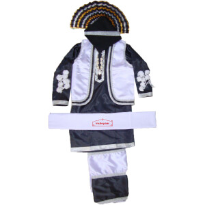 Black/White Bhangra dance Costume / outfit dress- ready to wear