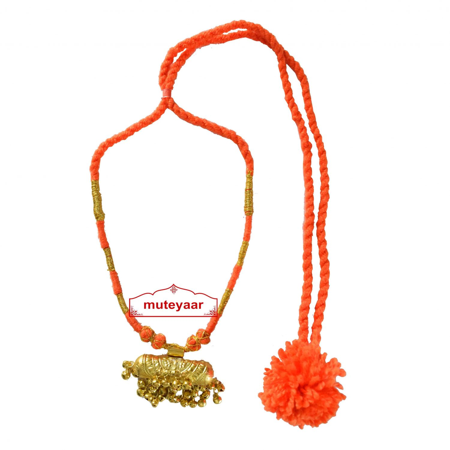 JUGNI traditional golden necklace haar for Giddha Bhangra 1