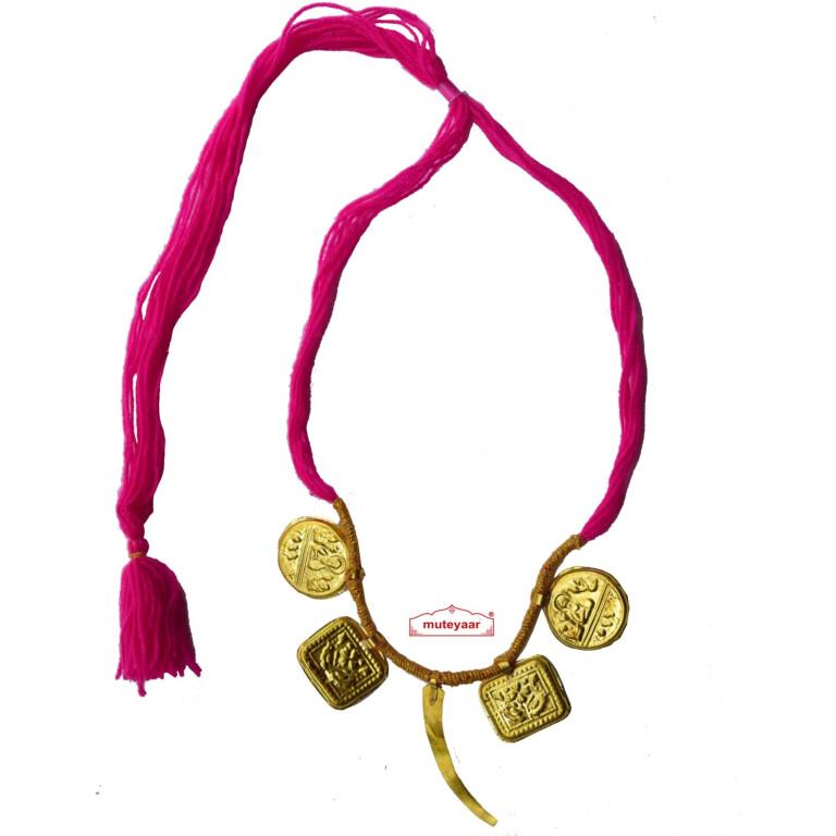 Singh Taweet traditional golden necklace haar for Giddha Bhangra