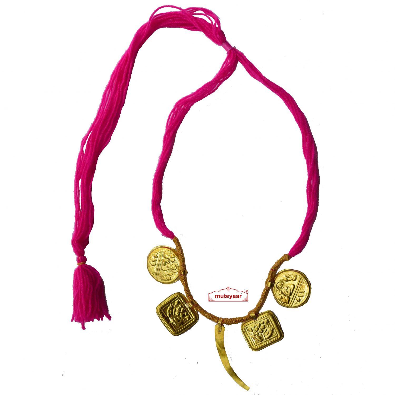 Singh Taweet traditional golden necklace haar for Giddha Bhangra 1