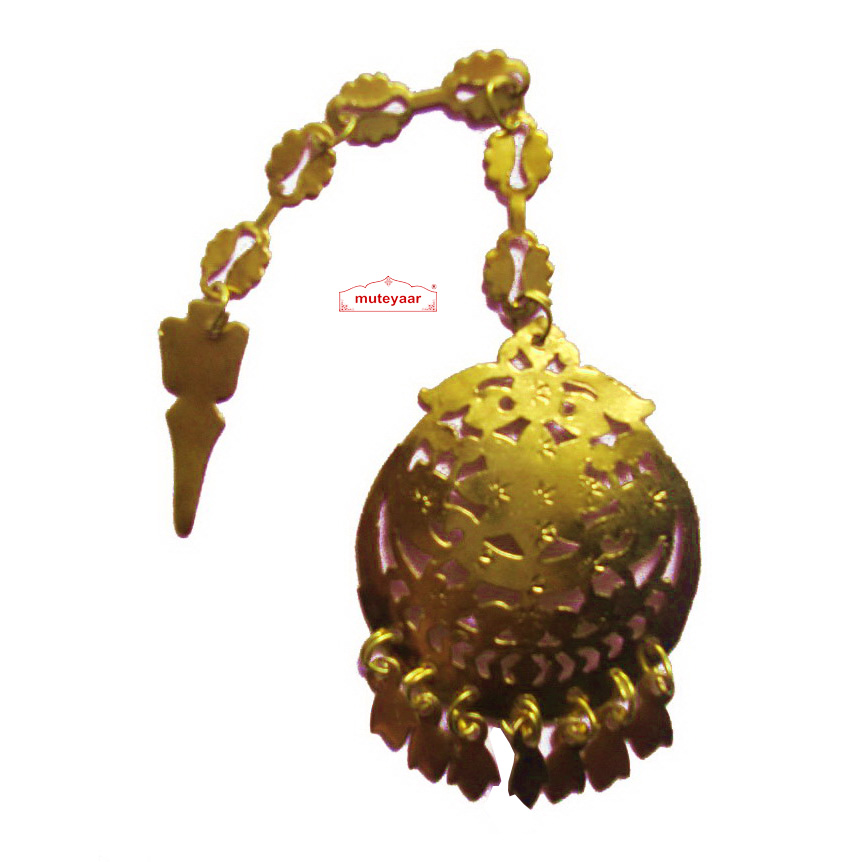 Golden Tikka Tika jewellery for giddha and bhangra 1