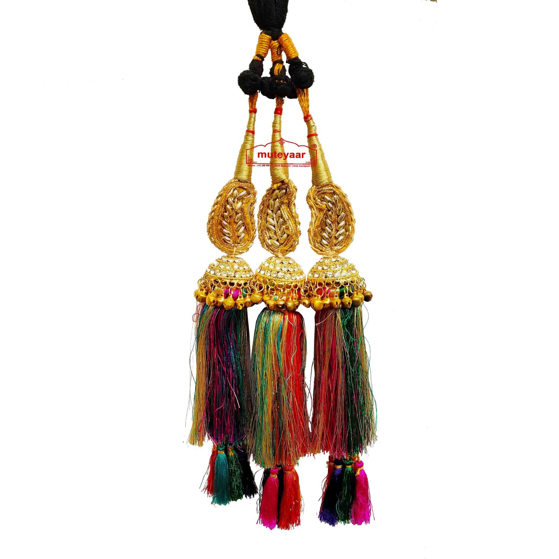 Zircons Studded Colourful Paranda Parandi 1