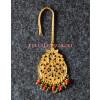 Golden Polished Tikka Maang Teeka jewellery for giddha and bhangra J0112