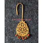 Golden Polished Tikka Maang Teeka jewellery for giddha and bhangra J0112
