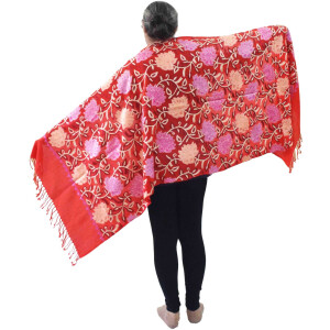Bridal Red Pashmeena Stole Cashmere woollen stoll C0486