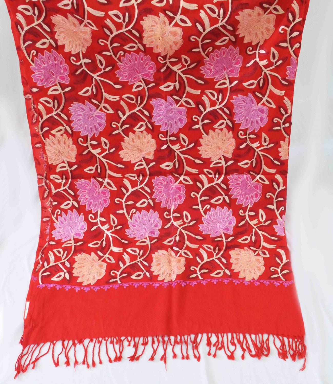 Bridal Red Pashmeena Stole Cashmere woollen stoll C0486 2