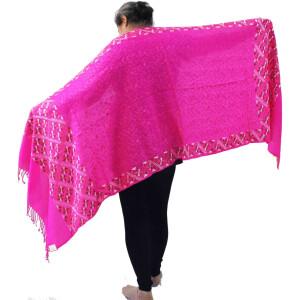 PURE Pashmina Kashmiri Bridal Phulkari embroidered woollen stole C0495