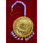 Golden Large Size Tikka Maang Teeka for giddha J0117