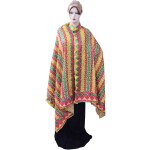 Phulkari Bagh Hand Embroidered Multicolor Cotton Dupatta D0746