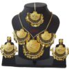 Real Gold Plated Necklace Earrings set J0120