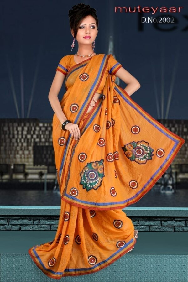 Embroidered party wear beautiful georgette Saree DN2002