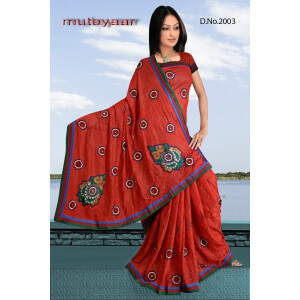 Embroidered party wear beautiful georgette Saree DN2003