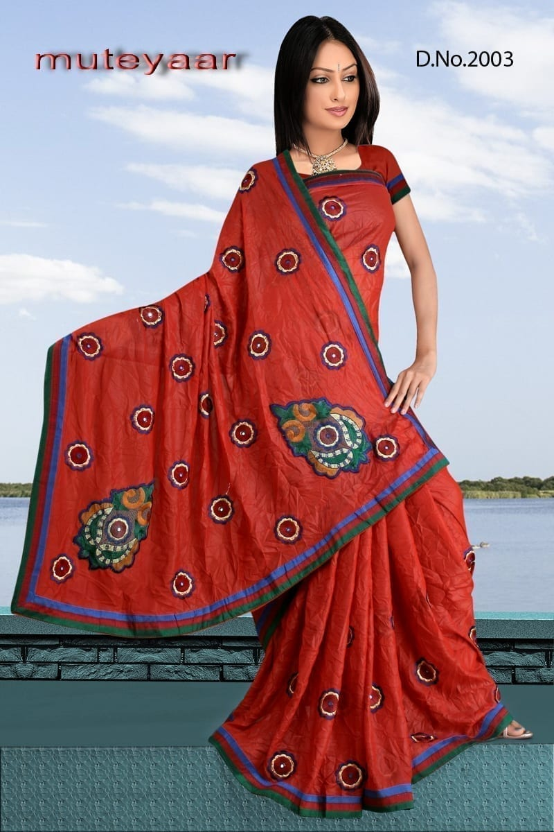 Embroidered party wear beautiful georgette Saree DN2003 1
