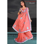 Embroidered party wear beautiful georgette Saree DN2009