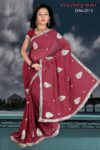 Embroidered party wear beautiful georgette Saree DN2012