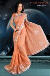 Embroidered party wear beautiful georgette Saree DN2019