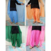 Bulk wholesale Lot of 25 crepe free-szie Patiala Salwar Dupatta set Mix colours