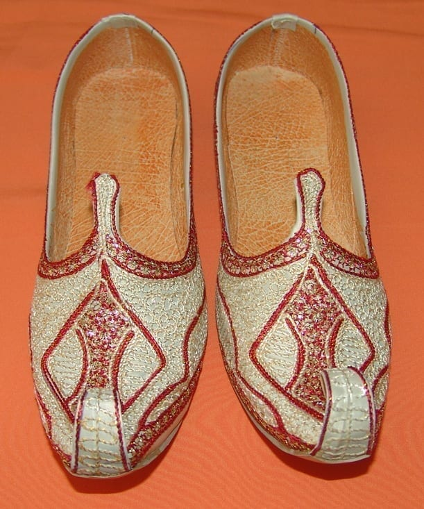 Desi Hand Made Embroidered Wedding Groom Achkan Sherwani Jutti Shoes ACJ01 2
