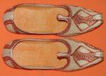 Desi Hand Made Embroidered Wedding Groom Achkan Sherwani Jutti Shoes ACJ01