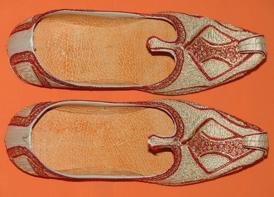 Desi Hand Made Embroidered Wedding Groom Achkan Sherwani Jutti Shoes ACJ01 4