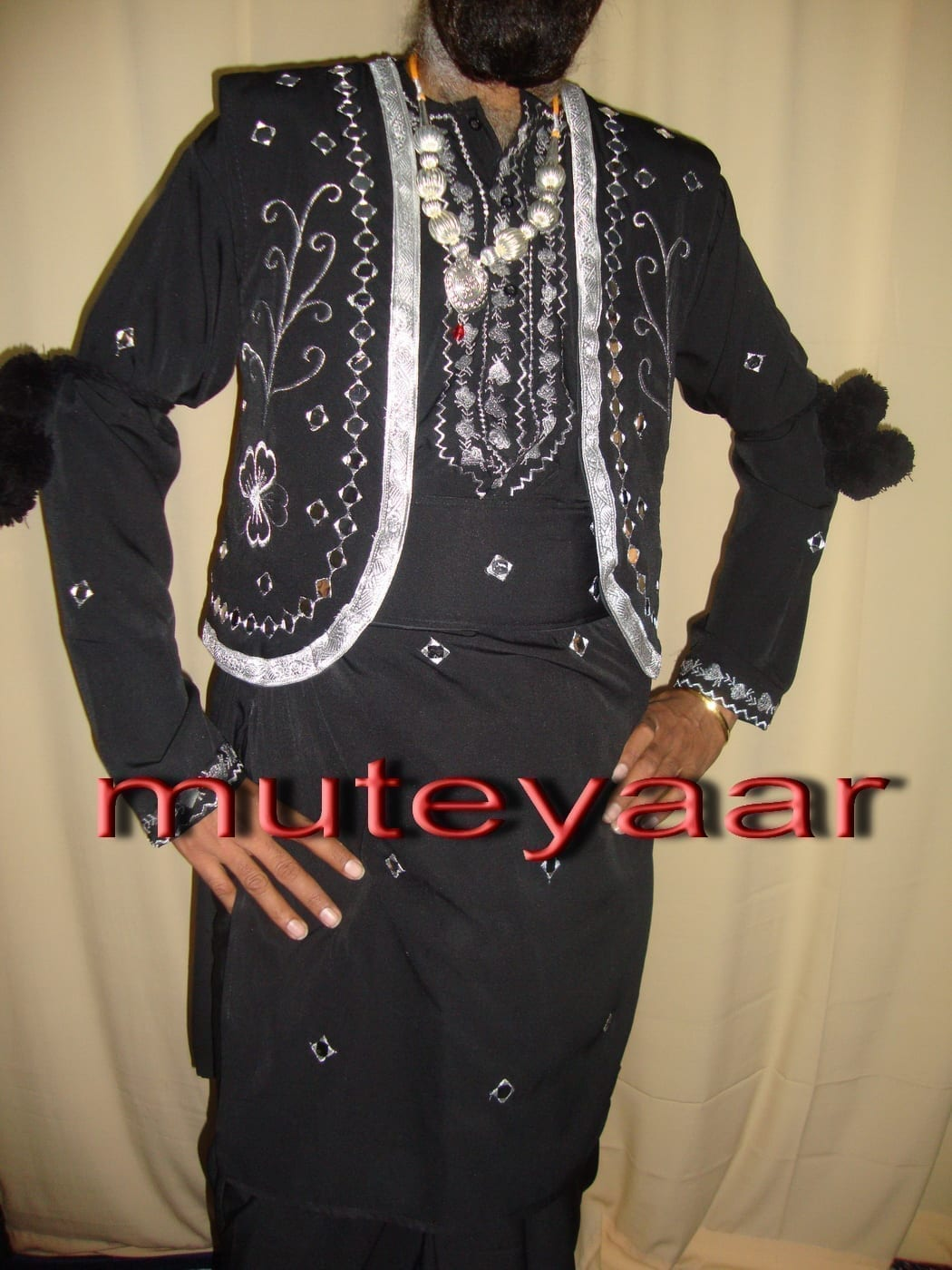 Black Mirrors work Bhangra dance dress outfit costume 2