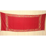 Maroon Cashmere pashmina border embroidered stole C0130