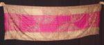 magenta thread embroidered Cashmere Stole C0233