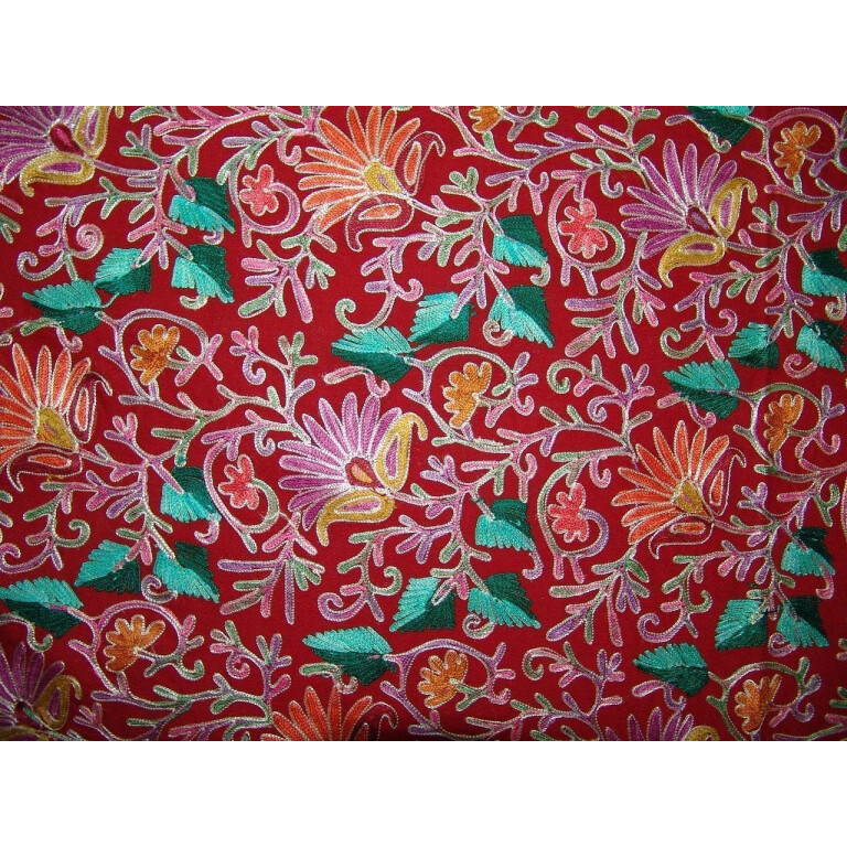 Kashmiri Pashmina Heavy JAAL Embroidered stole wrap C0298