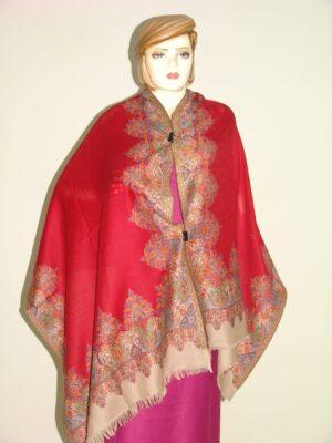 Pure Pashmeena woollen hand made designer stole wrap C0303