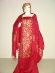 Pure Pashmina Kashmiri embroidered Salwar Kameez Stole C0374