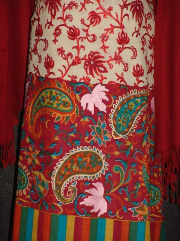 Pure Pashmina Kashmiri KALAMKARI Salwar Kameez Stole C0414
