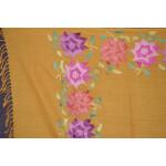 Pure Pashmina Kashmiri multicolor thread embroidered woollen stole C0419