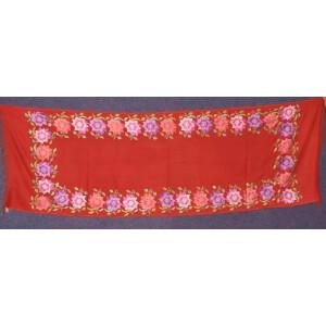 Pure Pashmina Kashmiri multicolor thread embroidered woollen stole C0421