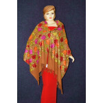 Pure Pashmina Kashmiri multicolor HEAVY JAAL embroidered woollen stole C0428