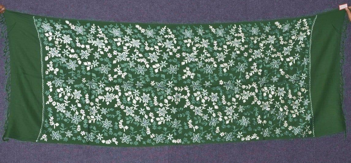 Pure Pashmina Kashmiri ZARI JAAL embroidered woollen stole C0431 1